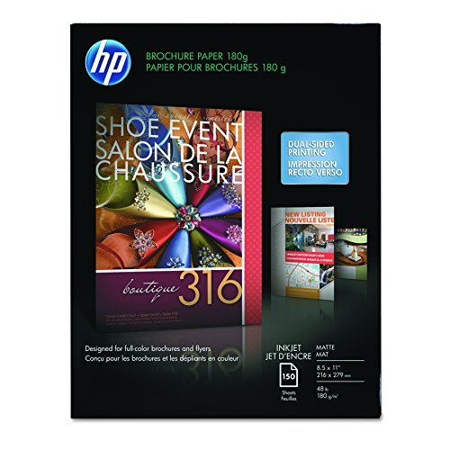 HP Brochure Inkjet Paper, 8.5x11, Matte, 150 Sheets, 180 Gram ()