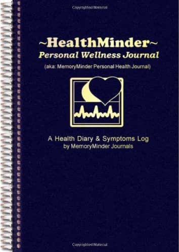 HEALTHMINDER Personal Wellness Journal Health Diary and Symptoms Log