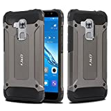 Huawei Nova Plus Case, J&D [ArmorBox] [Dual Layer] Hybrid Shock Proof Protective Rugged Case for Huawei Nova Plus - Metallic Black