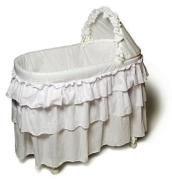 Amazon Com Burlington Baby Full Skirt Bassinet Liner