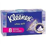 Kleenex Ultra Soft & Strong Facial Tissues, 130 Tissues per Flat Box, 8 Pack