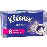 Kleenex Ultra Soft Facial Tissues, Flat Box, 130 Count per Flat Box, 8 Packs