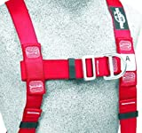 3M Protecta PRO 1191273 3M Protecta Fall Protection Full Body Harness, Back and Front D-Rings, Tongue Buckle Legs, 420 lb Capacity, Medium/Large, Red/Black