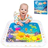 Lella - Premium Inflatable Tummy Time Water Mat for Babies Infants & Toddlers - Great Play Activity Center for Baby Stimulation and Growth - Developmental - Indoor & Outdoor Play Mat - BPA Free