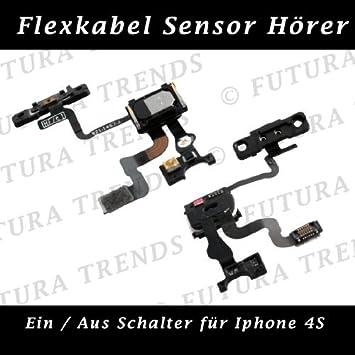 Power-Button Ein Aus Schalter,Sensor,Fotosensor iPhone 4S Reparatur Austausch