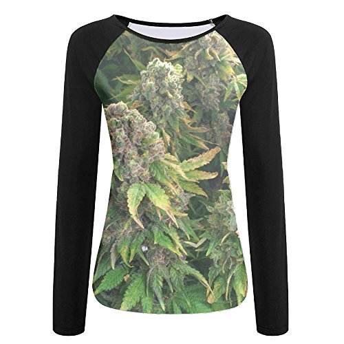 Women's Marijuana Weed Bud Ugly Raglan Jersey Shirt For Sports