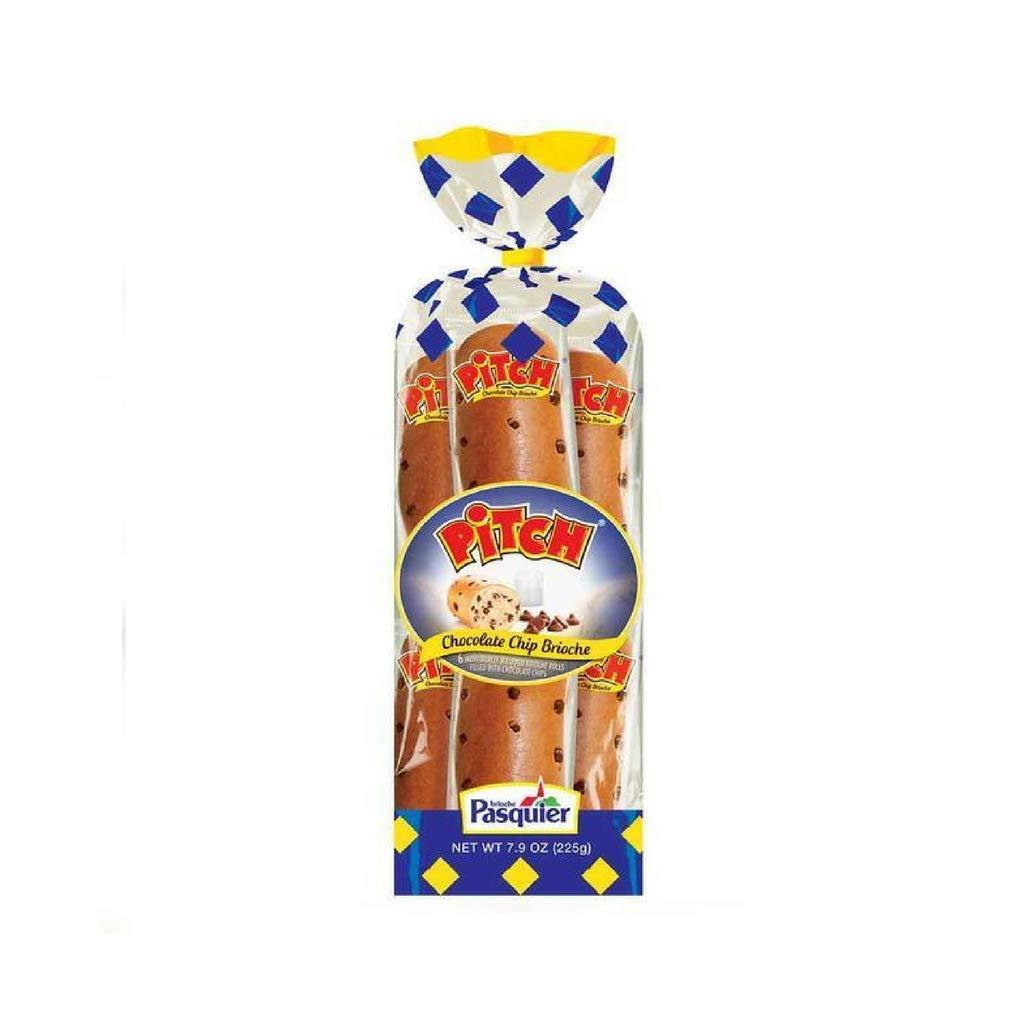 Brioche Pasquier - Chocolate Chip Pitch French Brioche Rolls, 7.9oz (225g) (2-PACK)