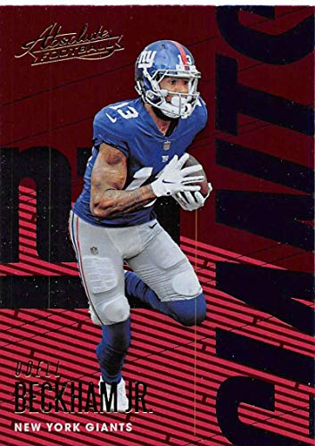 2018 Absolute Football #73 Odell Beckham Jr. New York Giants Official NFL Trading Card made by Panini