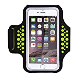 Water Resistant Sports Armband with Key, Money, Credit Card Holder for iPhone 7/7 Plus/6/6S Plus, Galaxy s8 s7 s6 Edge, or Smart Phones up to 5.7'