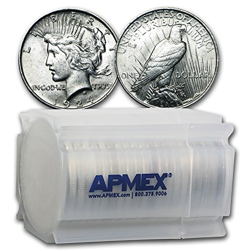 (1924 Peace Dollar AU (20-Coin Roll) About)