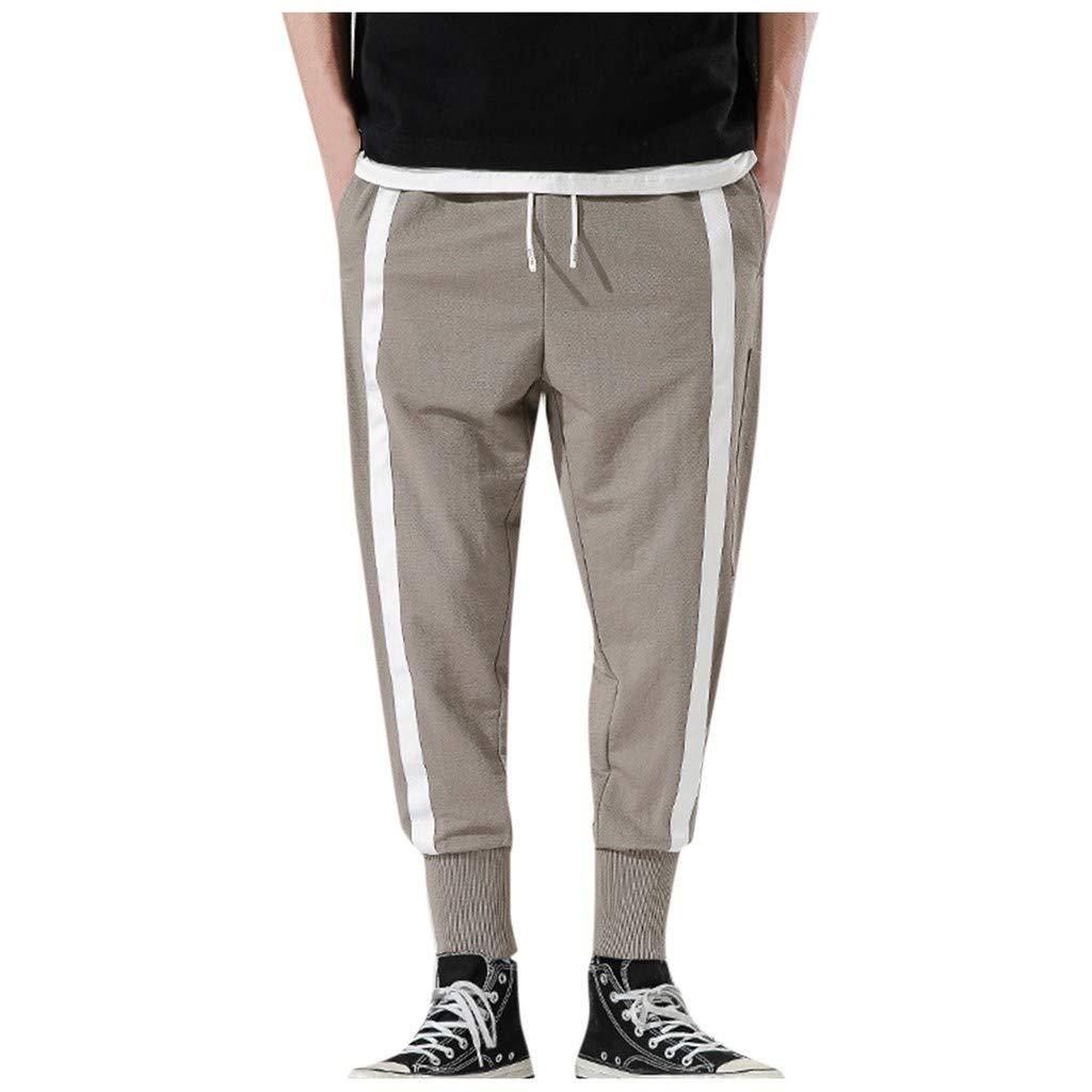 Pantalones de chándal para Hombres Pantalones de chándal para Hombres Pantalones de chándal Pantalones de chándal Grise Khaki by Alalaso