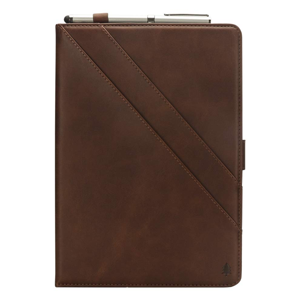 iPad Pro 11 Case, taStone Premium PU Leather Folio Business Case Multi-Angle Viewing Stand Cover Skin Card Slots Pouch with Pencil Sleeve for 11 inch 2018 Release iPad Pro 11, Dark Brown