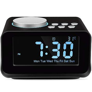 Amazon.com: Keright Radio despertador digital con altavoz ...