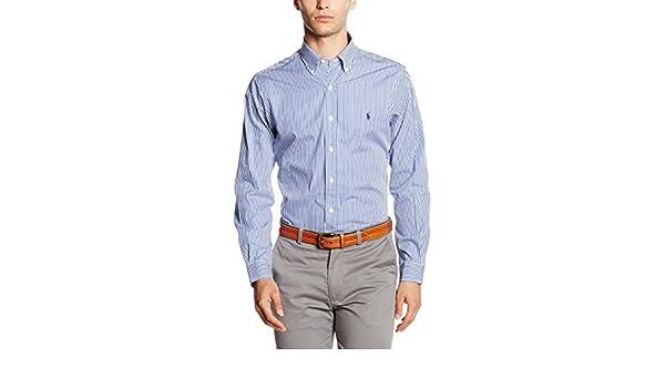 Polo Ralph Lauren Men Chemise slim fit  pour hommes  White blanc shirts SZ *2XL