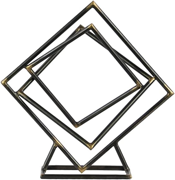 Urban Trends Tangled Abstract Square Base SM Metallic Finish Gunmetal Gray Sculpture