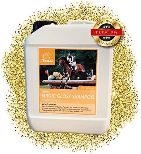 ⭐EMMA ♥ Champú para caballos - Set económico I Cuidado del caballo I Cuidado del pelo I Champú para caballos y perros I Manzanilla y proteínas I Suave, pH neutro I Limpieza de suciedad y polvo 2500 ml