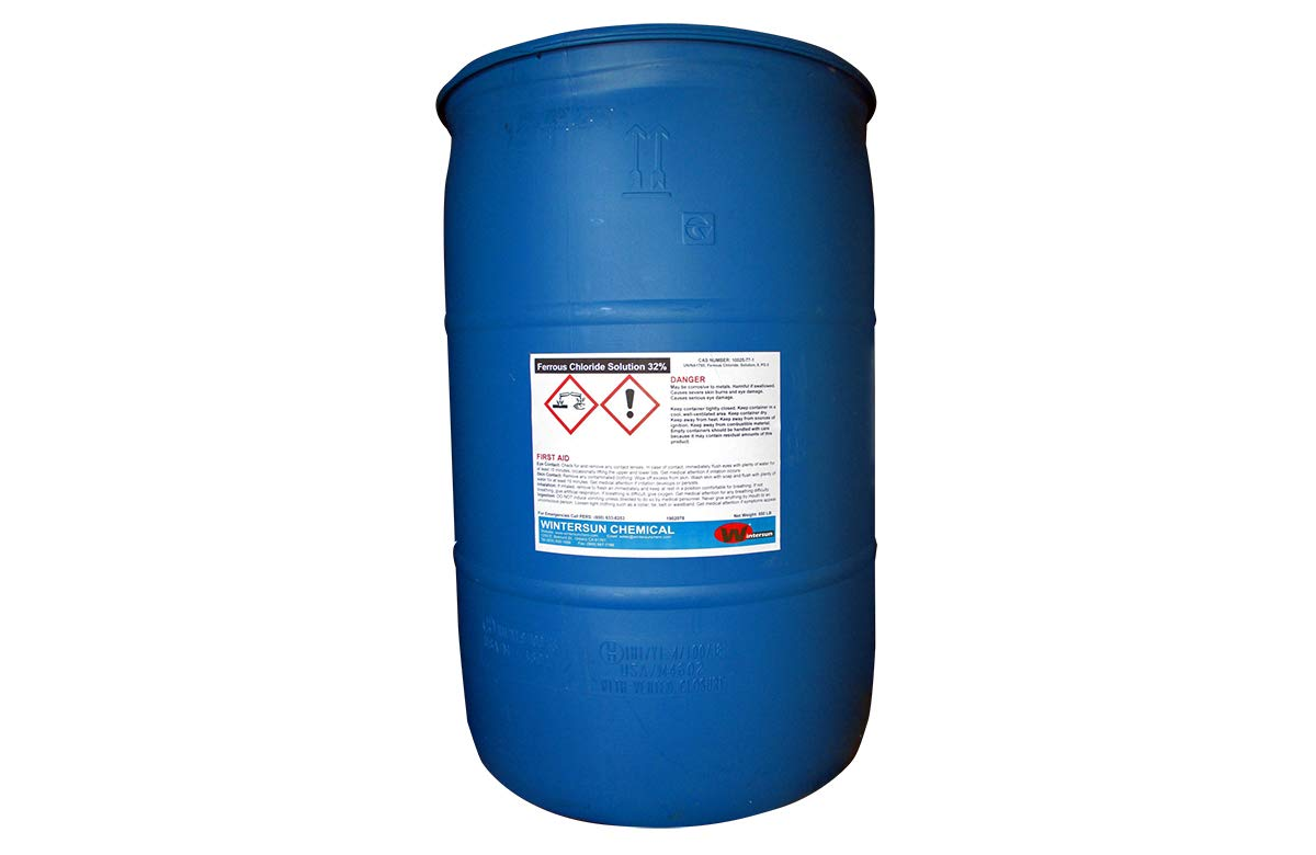 Ferrous Chloride Solution [FeCl2.4H2O] [CAS_7758-94-3] 18% - 32%, Green to Dark Color Liquid (530 Lb Drum) by Wintersun Chemical