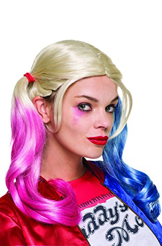 Inexpensive Costumes (Rubie's Costume Co. Women's Suicide Squad Harley Quinn Value Wig, As Shown, One Size)