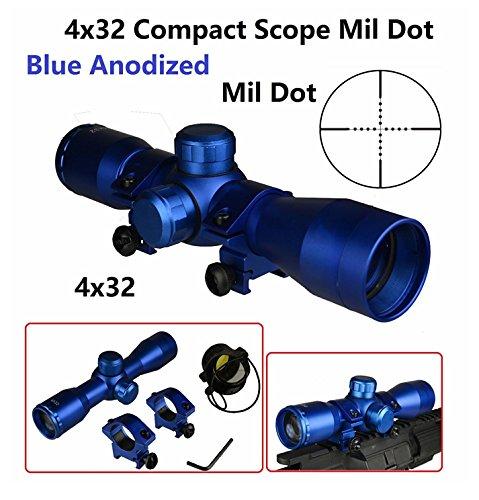 Field Sport Compact CQB 4x32mm Scope, Mil Dot, Blu...