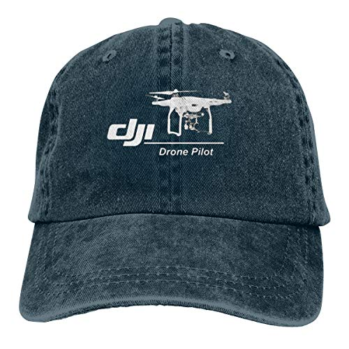 DoerKain DJI Passion Drone Pilot Unisex Adjustable Hat Travel Sunscreen Caps Navy