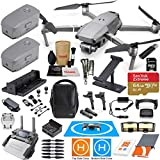 DJI Mavic 2 Pro Drone Quadcopter and Fly More Kit Combo with 3 Batteries, Hasselblad Camera Gimbal Bundle with Must Have Accessories