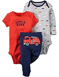 Carters Baby Boys 3-Piece Little Character Set Fire Engine, Red, 24M by Carter's