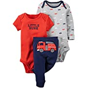 Carter's Baby Boys' 3 Pc Back Art 126g347, Navy, New Born