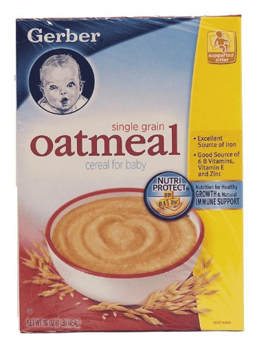 Gerber Single Grain Oatmeal Cereal For Baby