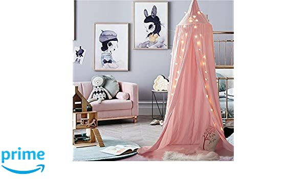 Amazon.com: M&M Mymoon Girls Bed Canopy Reading Nook Tent Dome ...