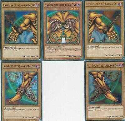 Yu-Gi-Oh EXODIA 45 Card Lot! Rare Cards! Exodia Cards Guaranteed! (Yugioh Cards Exodia)
