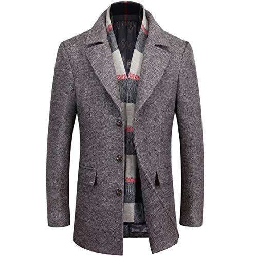 Solid Down Coat 1 Woolen Collar Turn Length EnergyMen Overcoat Mid Detachable UE8X6