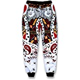 3D Mens Jogger Pants Playing Cards K King Q Queen Poker Face Paisley Sweatpants Hip Hop Casual Trousers