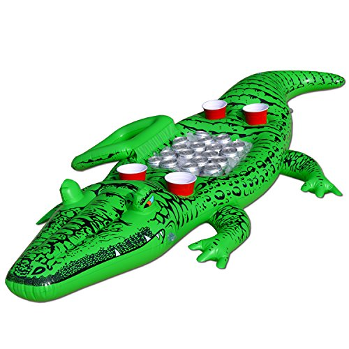 - GoFloats Giant Party Gator Floating Alligator with Cooler and Cup Holders, Over 6' Long