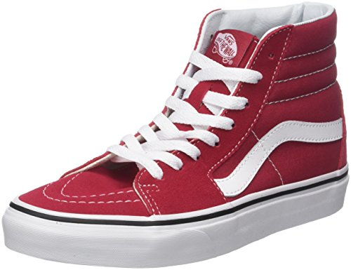 Suede White Sneaker Canvas Vans SK8 a Crimson Q9u Unisex Collo Classic Alto Hi Rosso Adulto True TfxtTqw6