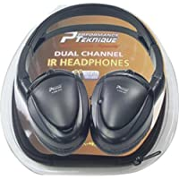 Performance Teknique ICBM-932 Car A/B Switch Dual Channel IR headphones w/ Carry Case