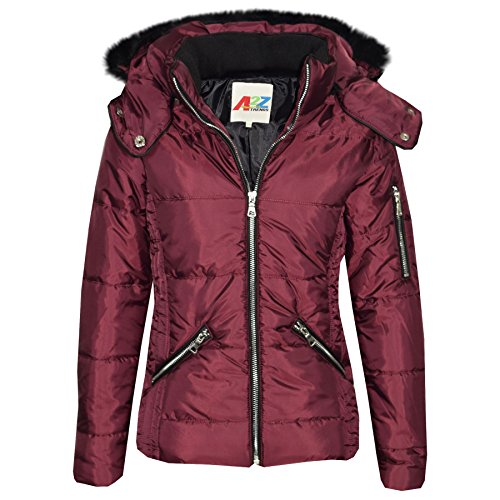 A2Z 4 Kids Girls Jacket Kids Cropped Padded Puffer Bubble Fur Collar Warm Thick Coats 3-13Y