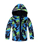 M2C Boys Outdoor Color Block Fleece Lining Windproof Jackets with Hood 6/7 Green