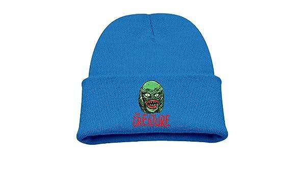f5be6b4d223 Amazon.com  CREATURE From The BLACK LAGOON Warm Winter Hat Knit Beanie  Skull Cap Cuff Beanie Hat Winter Hats Boys  Clothing