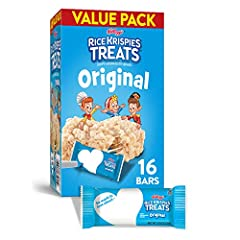 Snap, Crackle, Pop! Make snack time a little sweeter with the irresistible taste of Rice Krispies Treats. Each marshmallow square is made with puffed rice cereal and the taste of soft, gooey marshmallows for a delicious, ready-to-eat treat wh...