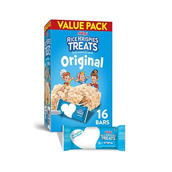 Kellogg's Rice Krispies Treats Original Marshmallow Bars – Classic Kid...