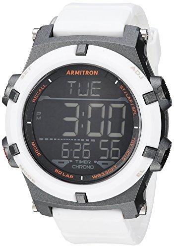 Armitron Sport Men's 40/8438WHT Digital Chronograph White Resin Strap Watch