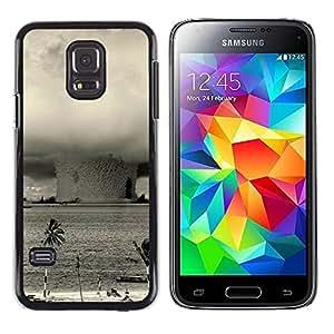 Smartphone duro funda protectora para Samsung Galaxy S5 Mini, SM-G800/funda TECELL tienda/Bikini portafrenos - bombanuclear explosión