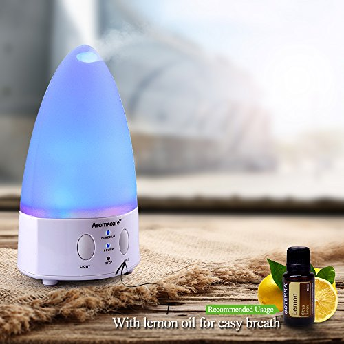 Aromacare Small Desk Essential Oil Diffuser,100ml Aromatherapy Diffuser Cool Mist humidifier for Aromatherapy,Waterless Auto Shut-off Function Aroma Diffuser for Home Office Bedroom Room, 100 mL
