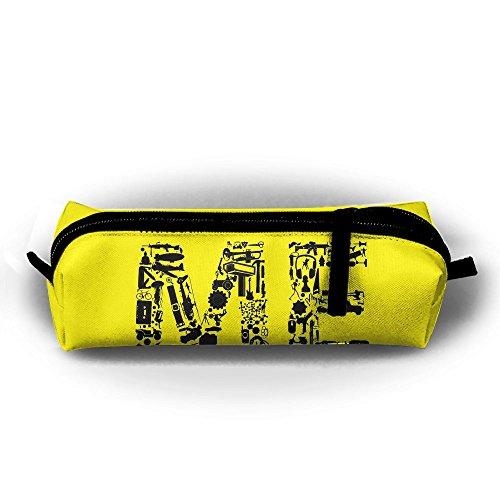 Kui Ju Pencil Bag Pen Case Me Letters Design Cosmetic Pouch Students Stationery Bag Zipper Organizer -