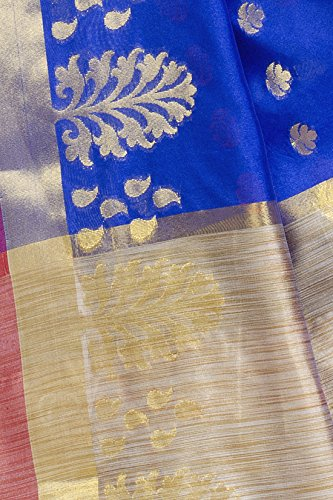 Chandrakala-Womens-Royal-Blue-Art-Silk-Banarasi-Saree