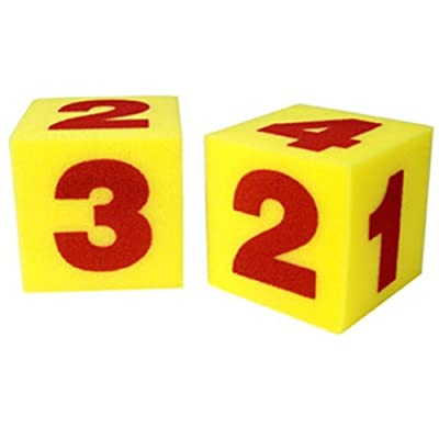 Learning Resources Giant Soft Cubes - Numerals: Toys & Games