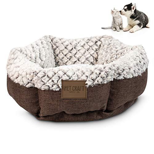 Pet Craft Supply Co. Soho Round Machine Washable Memory Foam Comfortable Ultra Soft All Season Self Warming Cat & Dog Bed