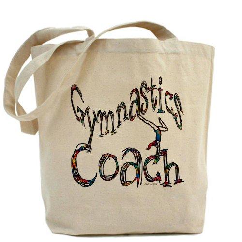 Cafepress–Gymnastics Coach Graphic Desi–Borsa di tela naturale, tessuto in iuta