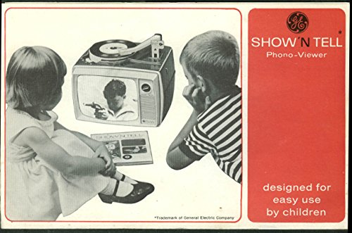 General Electric Show 'N Tell Photo-Viewer for Children instruction folder - Show General The