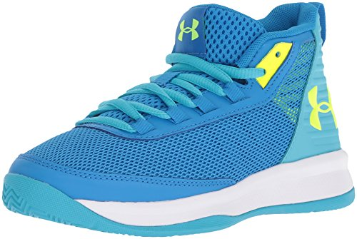Under Armour Girls' Pre School Jet 2018 Basketball Shoe, Blue Circuit (400)/Alpine, 1 (Shoes Basketball One)